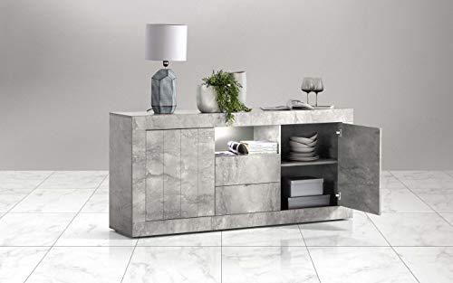 Credenza Moderna Cemento : Madia moderna ante in finitura cemento e ossido