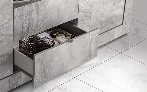Credenza Moderna Cemento : Credenza madia moderna primo line ante ribalta sala soggiorno