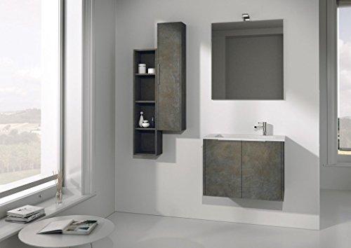 Dafnedesign mobile da bagno completo con lavabo rettangolare