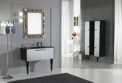 Badkamer Kast Spiegel : Dafnedesign badkamermeubel met laden en rechthoekige spiegel