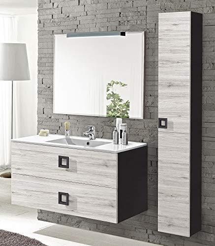 Dafnedesign.com - Mobile da bagno con lavabo sospeso + colonna ...