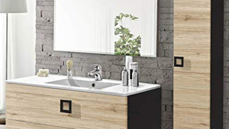 Lavabo A Colonna Design mobile da bagno con lavabo sospeso + colonna sospesa con