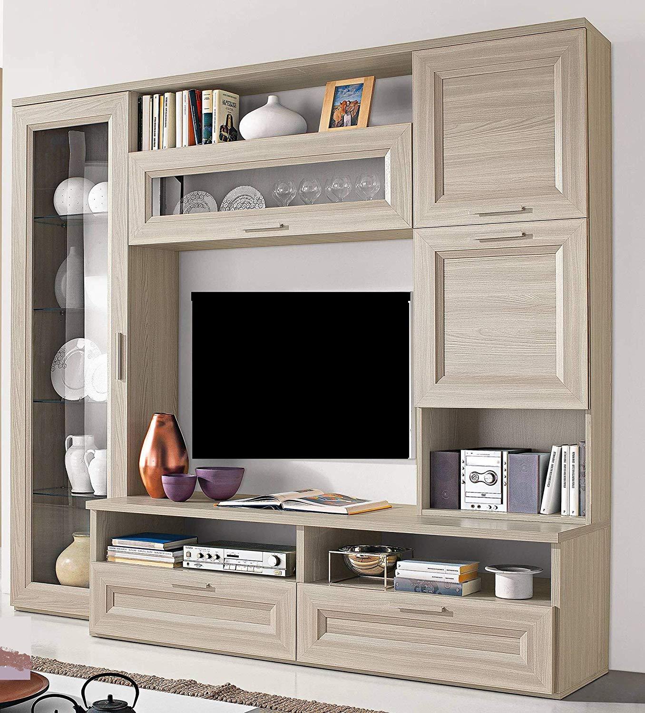 Dafnedesign.com – Parete componibile per soggiorno - Colore: olmo ...
