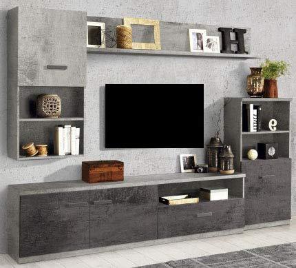 Dafnedesign.com – Parete componibile per soggiorno - Colore: ossido ...