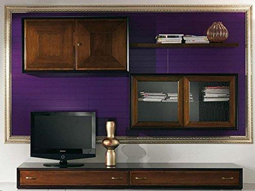 Color Prugna Per Pareti : Dafnedesign u parete componibile per soggiorno boiserie