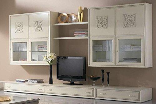 Dafnedesign.com – Parete componibile per soggiorno, colore avorio ...