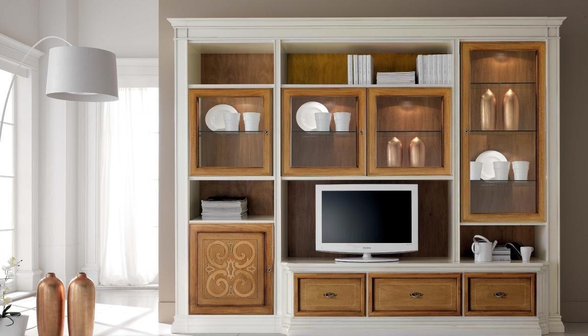 Dafnedesign.com – Parete componibile per soggiorno, parete avorio ...