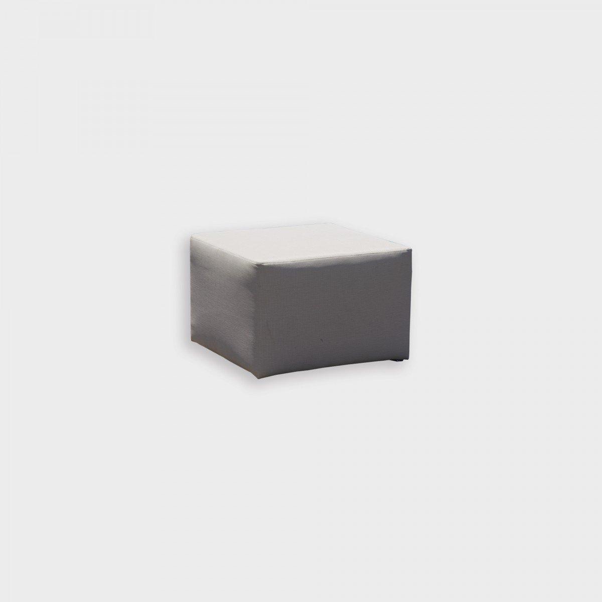Pouf da giardino, 62 cm - H 42 cm - : 62 cm, 6,23kg./0,10m3 - tessuto  antimacchia, colori bianco e grigio argento, , resistente all\'usura e agli  ...