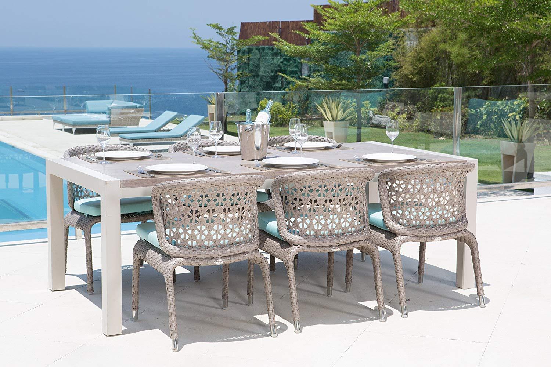 Set pranzo 6 posti da giardino composto da 6 sedie da for Sedie da pranzo economiche
