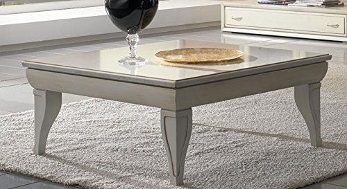 Dafnedesign.com – Tavolino da salotto quadrato, colore avorio, effetto  vintage, 92 X 92 X 36, 22 Kg, 0.13 Mc/M³, n. colli 1. Struttura: piano in  ...