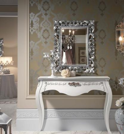 Dafnedesign.com – Tavolo consolle, colore bianco, decorazione con ...