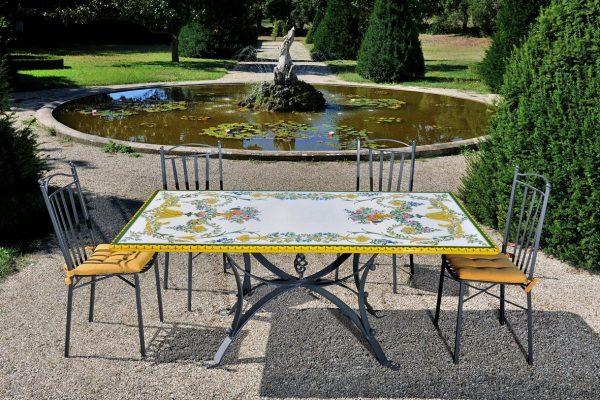 Tavoli Da Giardino Decorati.Dafnedesign Com Tavolo Rettangolare 200x100 Cm Da Giardino In