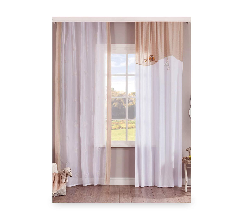 Cortina de dormitorio para niña o bebé - Una cortina con dos caídas ...