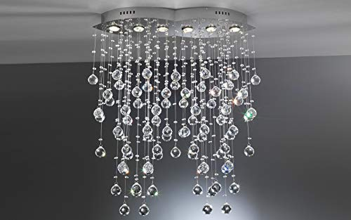 Plafoniere Con Lampadine : Dafnedesign lampadario con cristalli lampadine a led