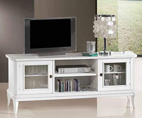 Dafnedesign.com - n. 1 Base TV-Ständer, zwei Türen, weiße Farbe ...