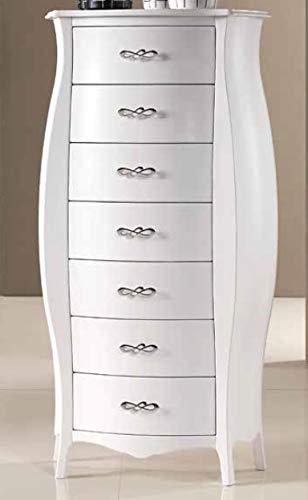 Dafnedesign Com N 1 Convex Kommode Sieben Schubladen Farbe Weiss