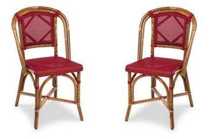 Sedie In Midollino.Dafnedesign Com N 2 Sedie Rivestimento Nylon Telaio Rattan Malacca Df9