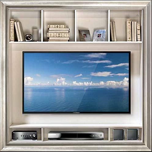 Dafnedesign.Com - Cornice Porta TV con Scomparti - in Foglia Argento ...